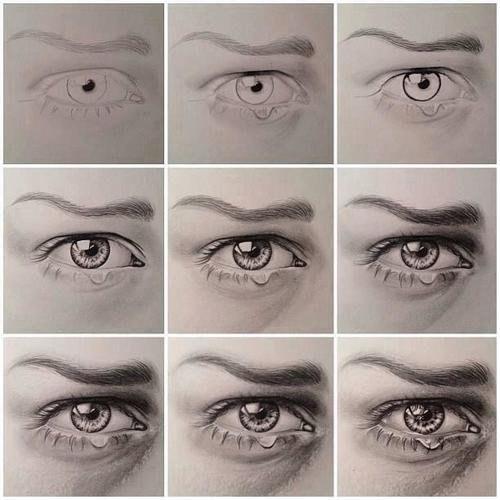 Фото поэтапно как рисовать глаз